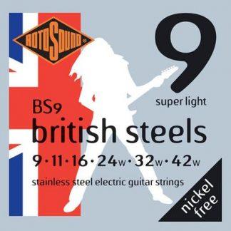 BS9 British Steels guitar strings